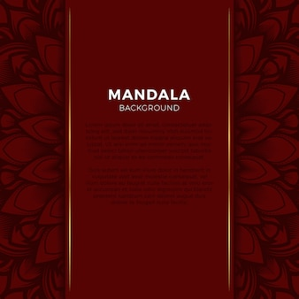 Luxe rode achtergrond mandala