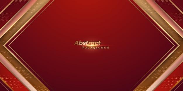 Luxe rode en gouden achtergrond