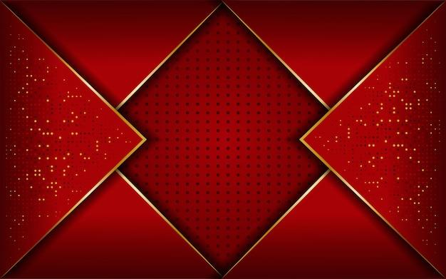 Luxe rode en gouden lijn achtergrond