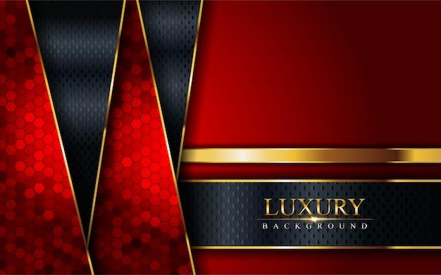 Luxe rode, gouden en zwarte combinatie achtergrond.