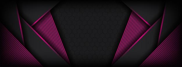 Luxe roze en donkergrijze achtergrond met overlappende laag