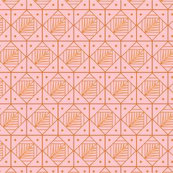 Luxe roze roos art deco naadloze patroon