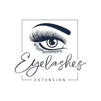 Luxe schoonheid wimper logo ontwerp