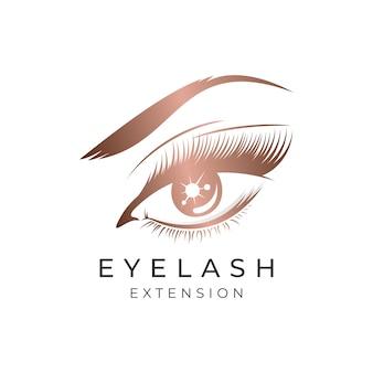 Luxe schoonheid wimpers extensie logo ontwerp