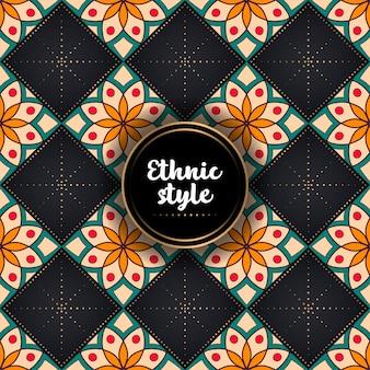 Luxe sier etnisch patroon