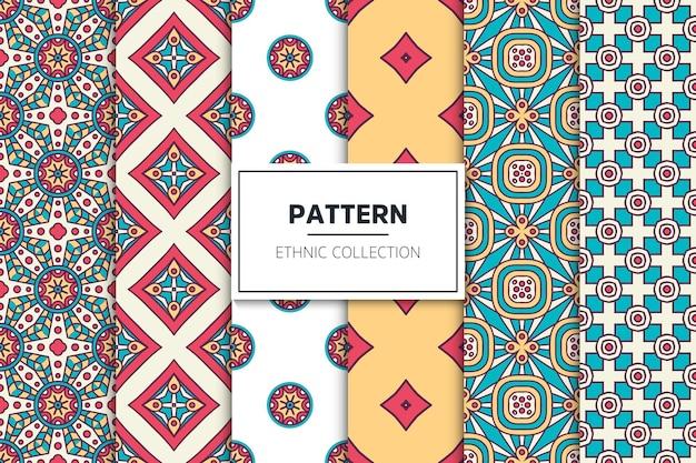 Luxe sier etnische patroon collectie