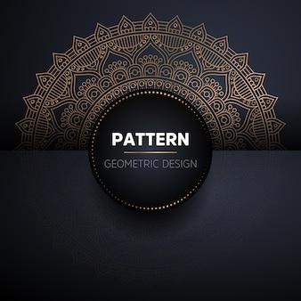 Luxe sier gouden mandala naadloze patroon