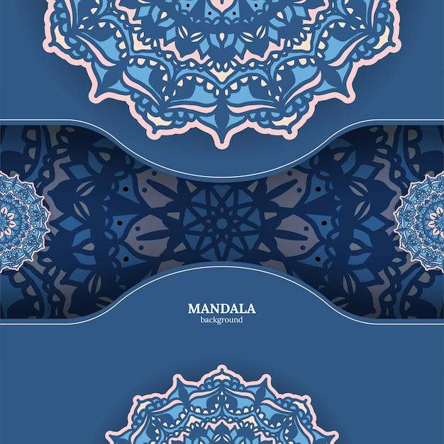 Luxe sier kleurrijke mandala achtergrond