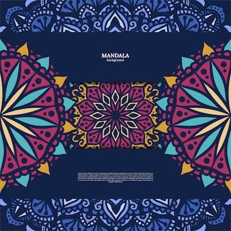 Luxe sier kleurrijke mandala ontwerp achtergrond