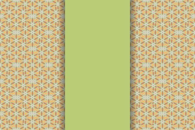 Luxe sier mandala achtergrond in gouden kleur