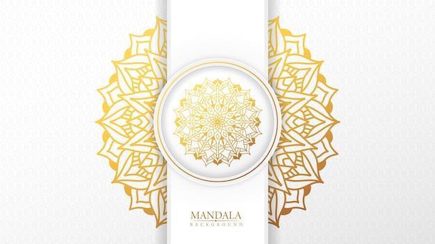 Luxe sier mandala achtergrond met arabische islamitische oost patroonstijl