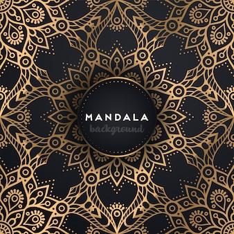 Luxe sier mandala achtergrond
