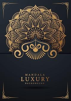 Luxe sier mandala achtergrondontwerp met gouden arabesque en florale hoek frame arabische islamitische oost-stijl