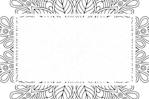 Luxe sier mandala frame achtergrond