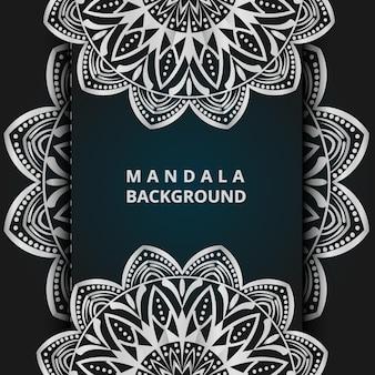 Luxe sier mandala illustratie achtergrond in zilver kleur mandala achtergrond vector mandala