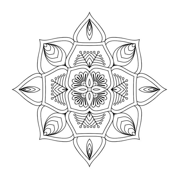 Luxe sier mandala illustratie