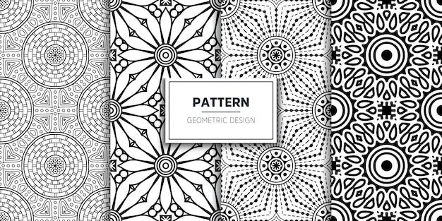 Luxe sier mandala naadloos patroon
