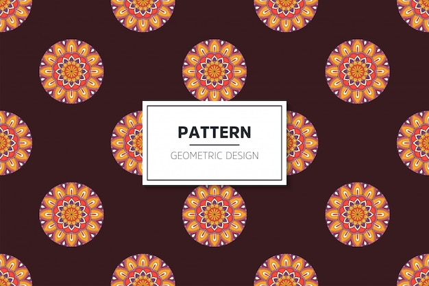 Luxe sier mandala naadloze patroon in gouden kleur vector