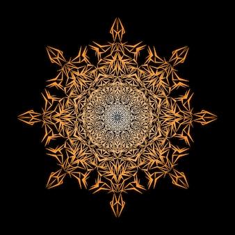 Luxe sier mandala ontwerp achtergrond in gouden kleur, luxe mandala achtergrond