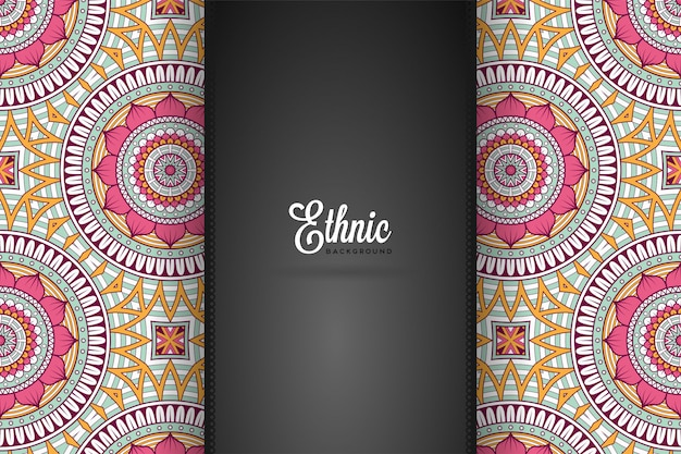 Luxe sier mandala ontwerp achtergrond in gouden kleur vector