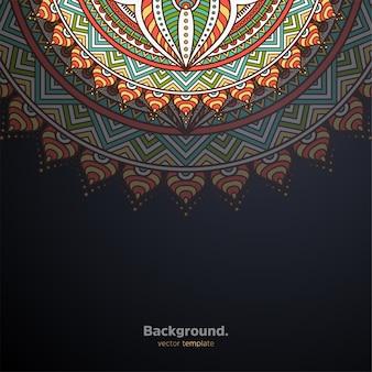Luxe sier mandala ontwerp achtergrond kleurrijk