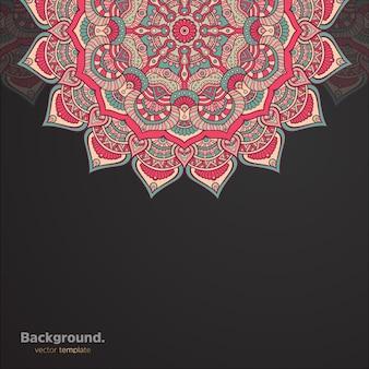 Luxe sier mandala ontwerp achtergrond