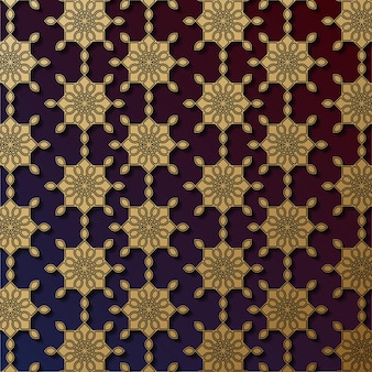 Luxe sier mandala ontwerp naadloos patroon in goud