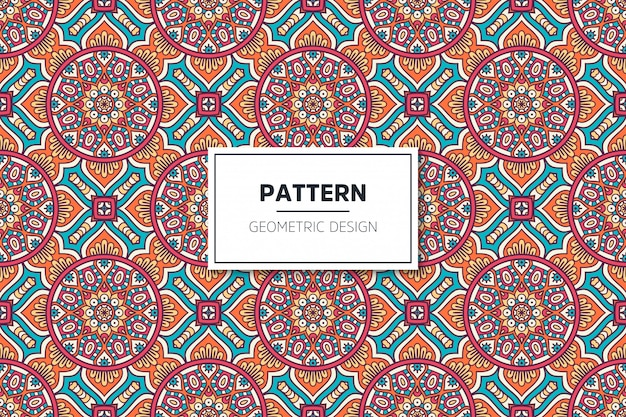 Luxe sier mandala ontwerp naadloze patroon