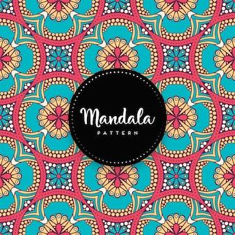 Luxe sier mandala ontwerp