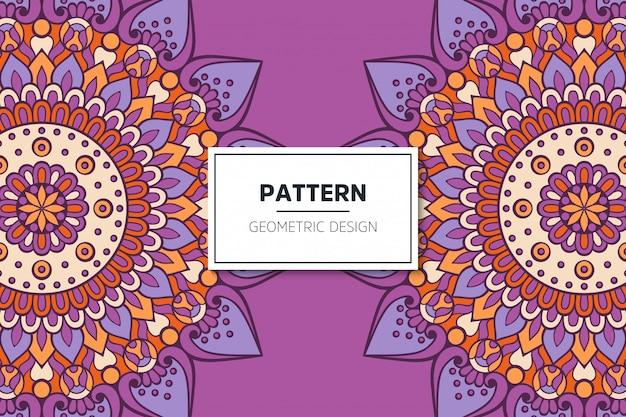 Luxe sier mandala patroon ontwerp