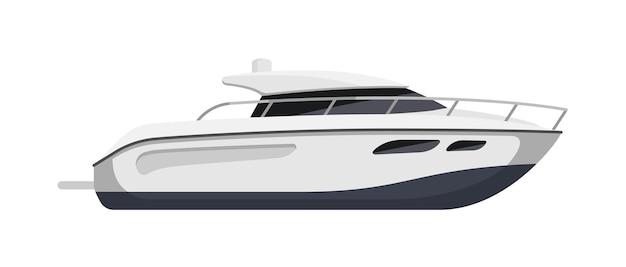Luxe snelheid jachtschip geïsoleerd op een witte achtergrond