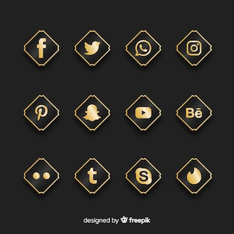Luxe social media logo-collectie