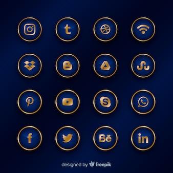 Luxe social media logo-collectie