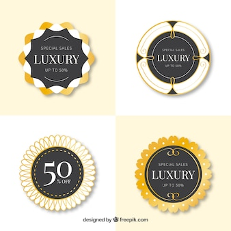 Luxe stickers rounded stickers set