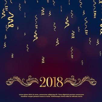 Luxe stijl 2018 gelukkig nieuwjaar groet met gouden florale decoratie
