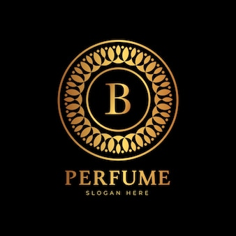 Luxe stijl voor parfumlogo