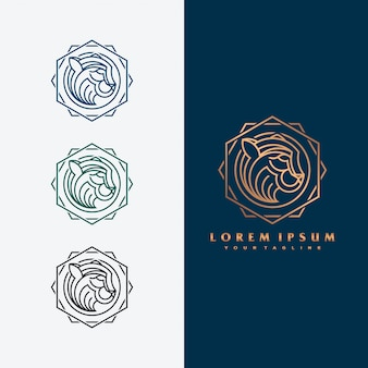 Luxe tijger logo concept illustratie.