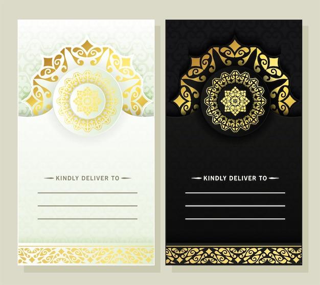 Luxe trouwkaart met mandala
