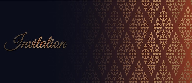 Luxe uitnodiging achtergrond stijl sierpatroon