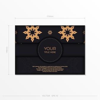 Luxe uitnodigingskaart ontwerp met abstracte vintage ornament. kan worden gebruikt als achtergrond en behang. elegante en klassieke vectorelementen zijn geweldig voor decoratie.