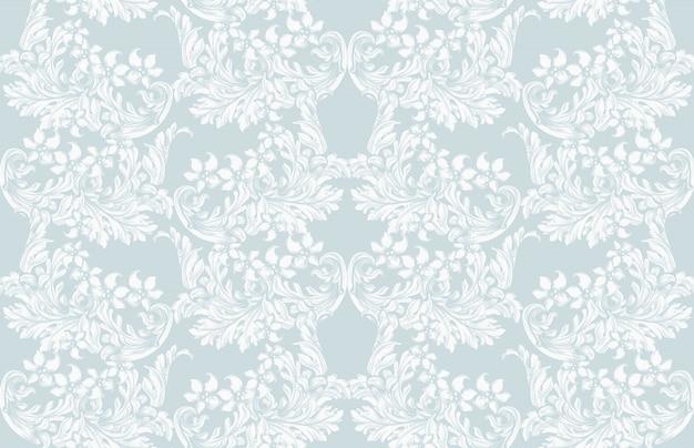 Luxe uitnodigingskaart vector. koninklijk victorian patroonornament. rijke rococo-achtergronden