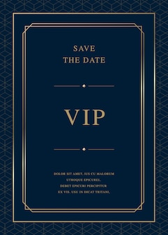 Luxe uitnodigingskaart