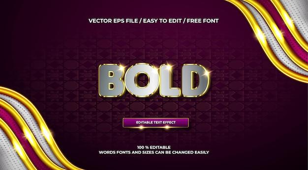 Luxe vetgedrukt 3d-teksteffect