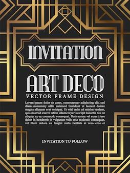 Luxe vintage frame art decostijl.