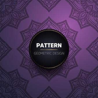 Luxe vintage mandala naadloze patroon