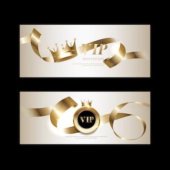 Luxe vip-uitnodigingen en couponachtergronden