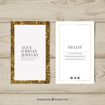 Luxe visitekaartje met gouden frame