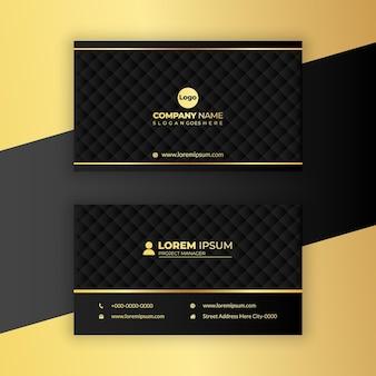 Luxe visitekaartje ontwerp premium vector