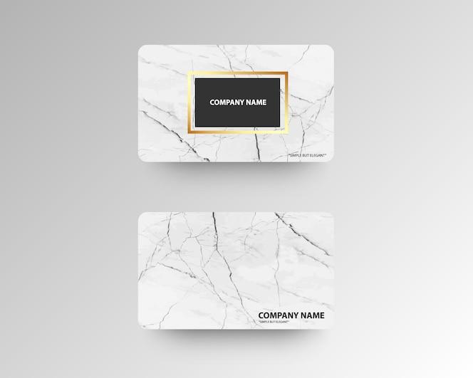 Luxe visitekaartjes met marmeren textuur en goud