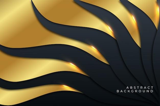 Luxe vloeibare gouden abstracte achtergrond
